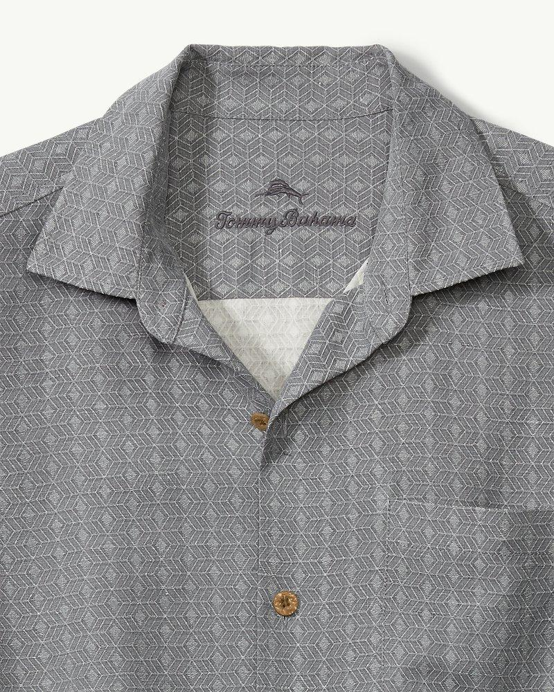 2e377f2e615 Lyst - Tommy Bahama Dimensional Diamond Camp Shirt in Gray for Men