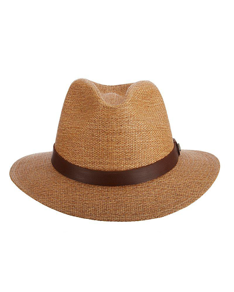 c309a4cb Tommy Bahama Matte Straw Safari Hat in Brown for Men - Lyst