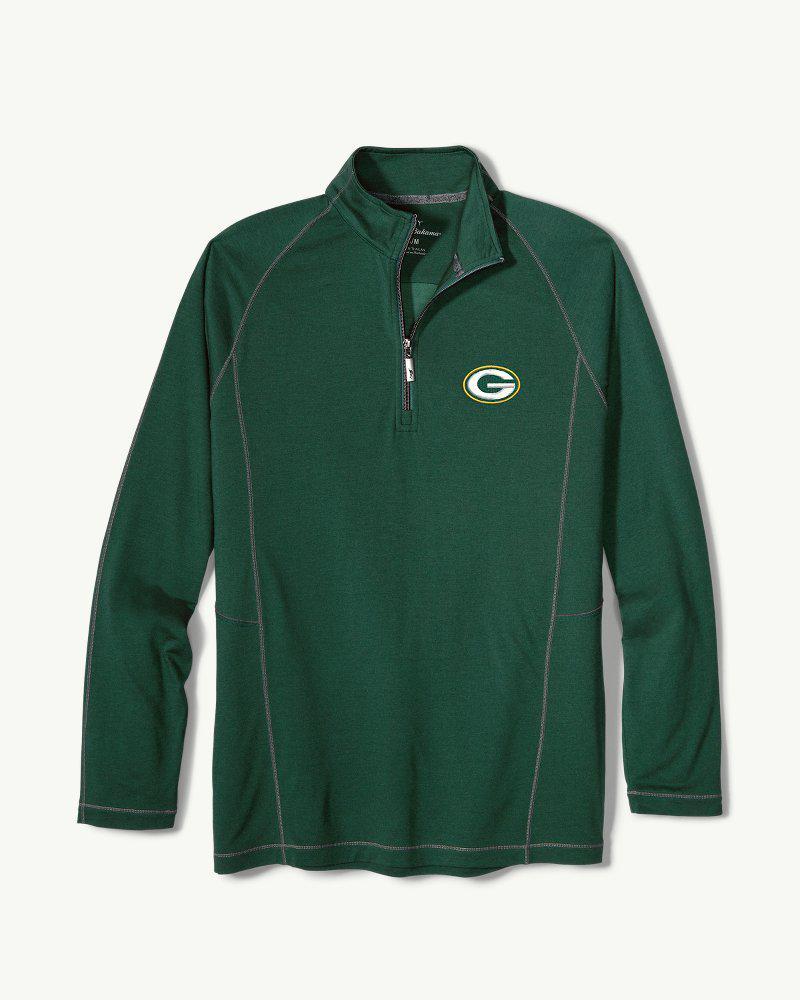 buy online 0586d 425fd Men's Green Big & Tall Nfl Goal Keeper Half-zip Sweatshirt