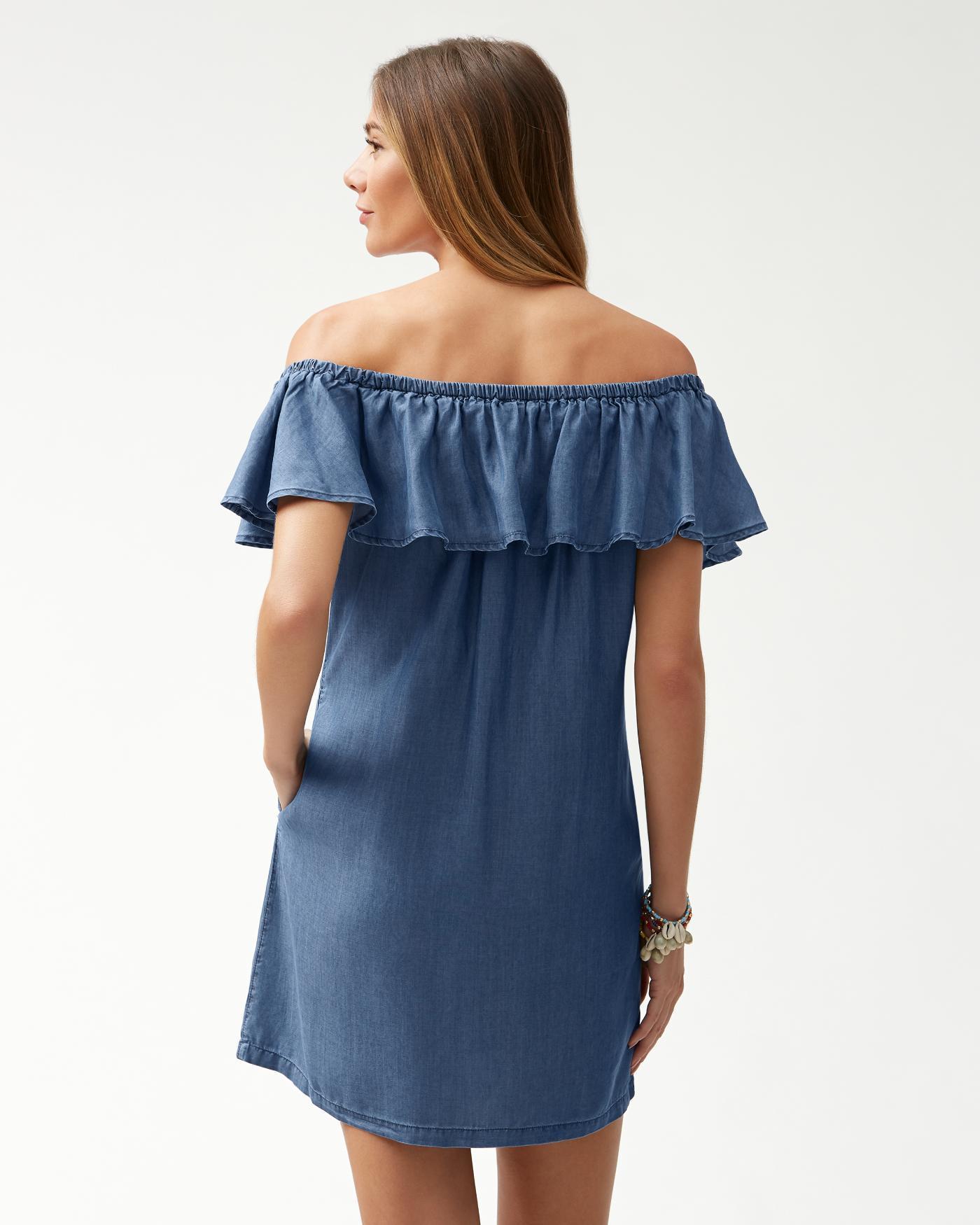 tommy bahama off the shoulder dress