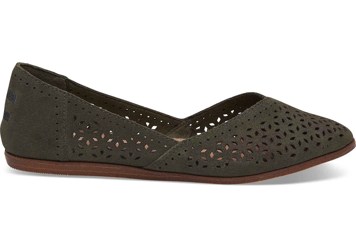 6b03613a672ae TOMS Schuhe Pine Suede Perforated Jutti Ballerinas - Lyst