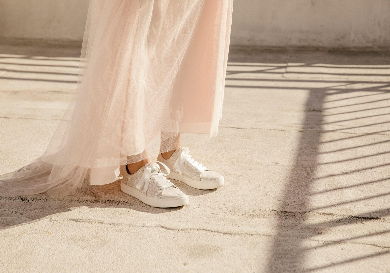 6ea367dae TOMS Ivory Glitter Mesh Women's Lenox Sneakers in White - Lyst