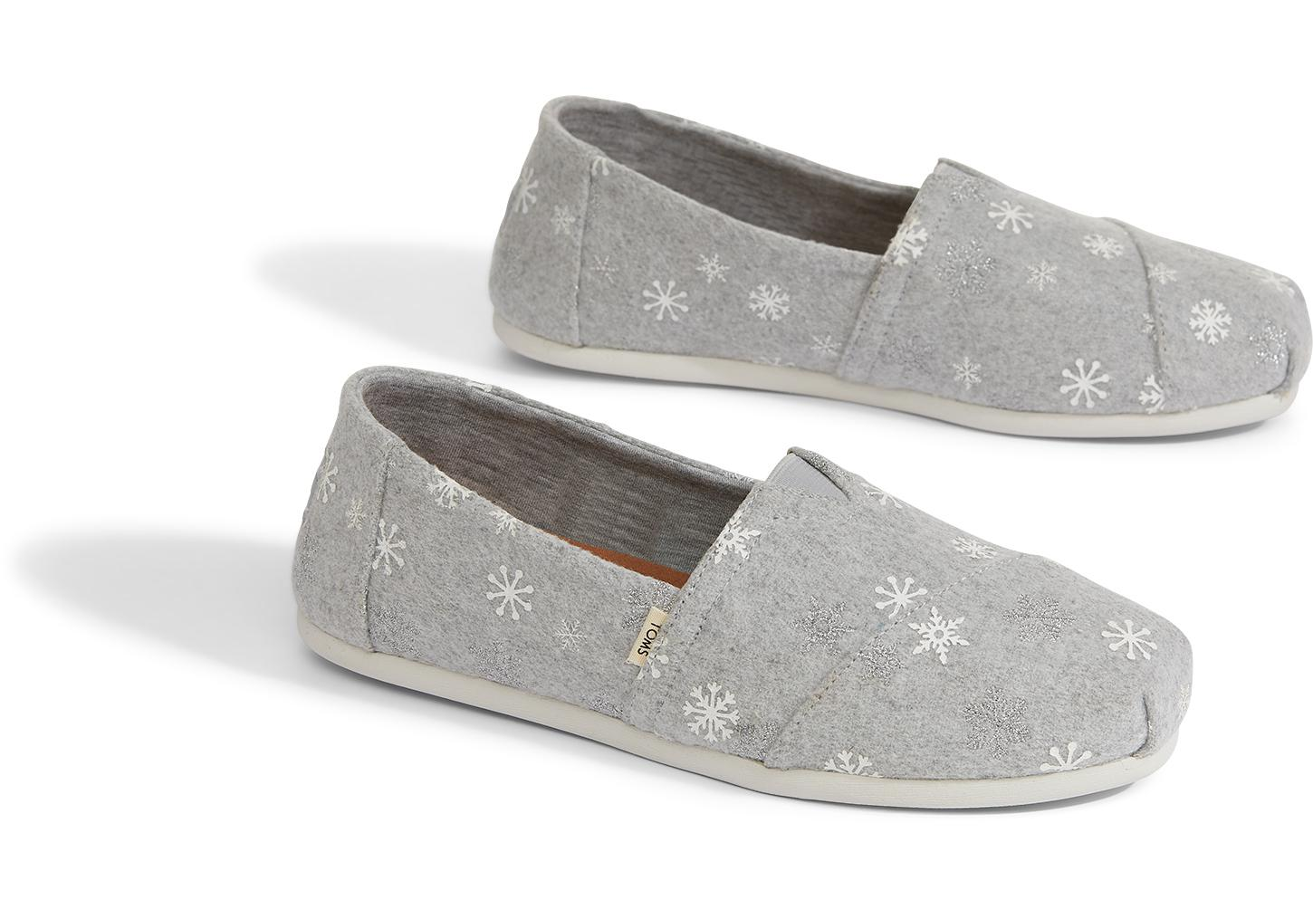 541ae50c43e TOMS - Gray Drizzle Grey Embroidered Snowflakes Women s Classics - Lyst.  View fullscreen