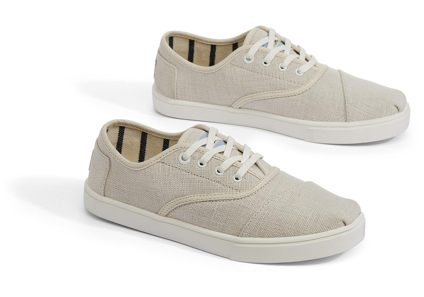 5f12c0f76120 TOMS - Natural Cordones Cupsole (black Heritage Canvas Cupsole) Women s  Shoes - Lyst. View fullscreen