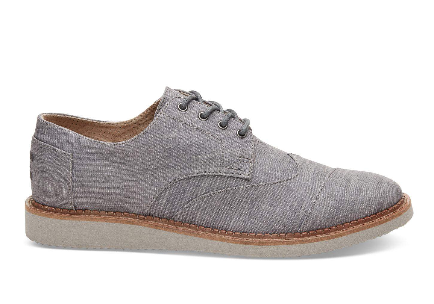 Mens Gray Oxford Shoes