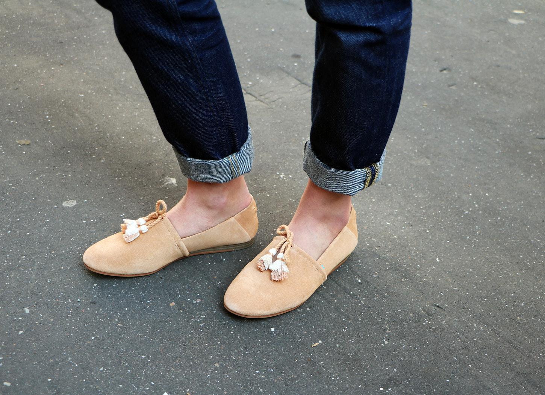 TOMS Honey Suede Women's Kelli Flats in