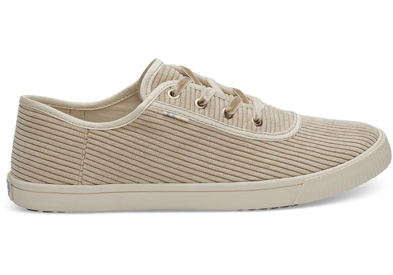 a8252873a73 Lyst - TOMS Oxford Tan Corduroy Women s Carmel Sneakers Topanga ...
