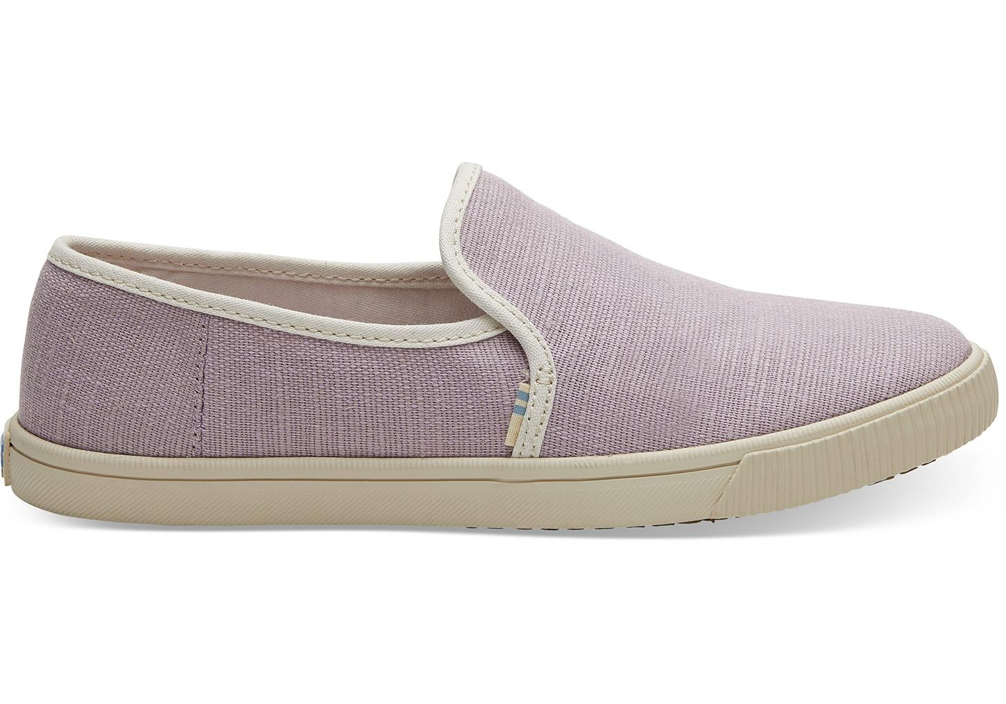 99cb0c430f Lyst - TOMS Burnished Lilac Heritage Canvas Women s Clemente Slip ...