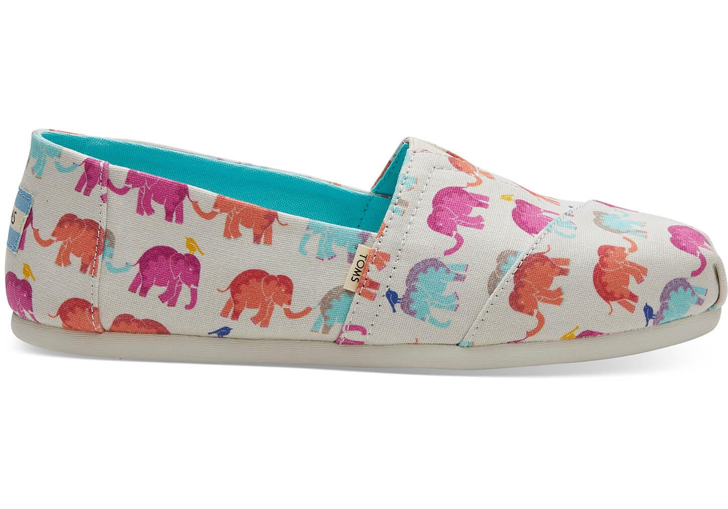 b3c61056e86 TOMS - Blue Elephant Canvas Women s Classics - Lyst. View fullscreen