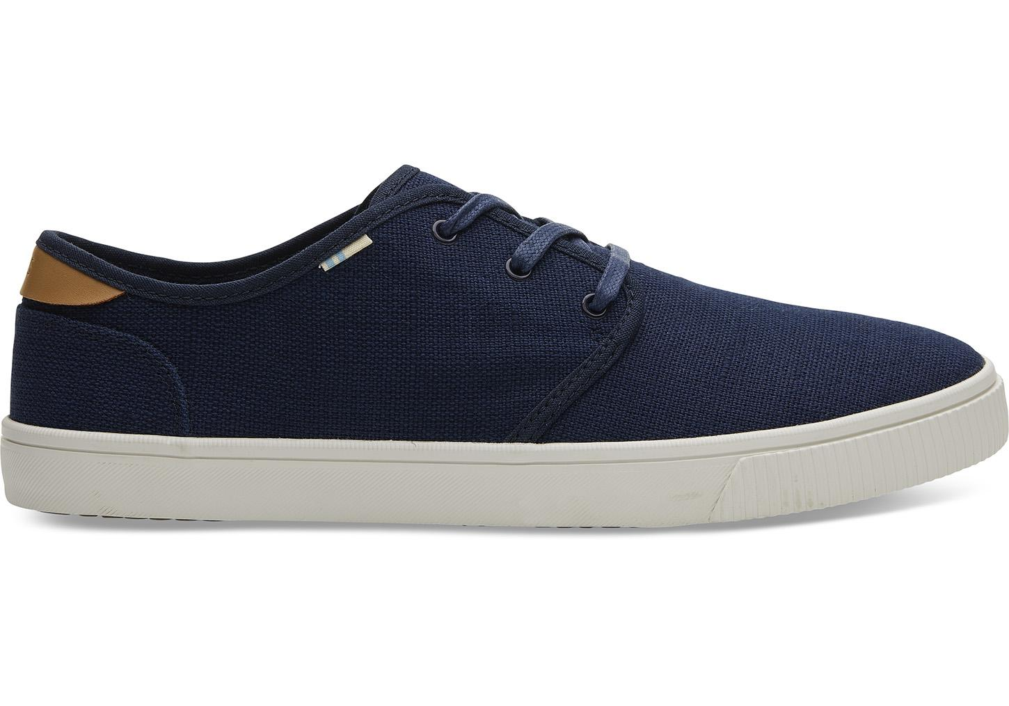 23af5802f5 Lyst - TOMS Navy Heritage Canvas Mens Carlo Sneakers in Blue for Men