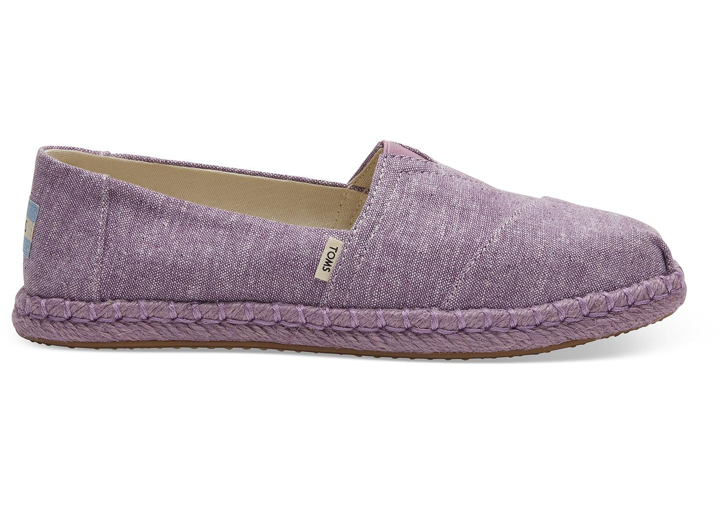 72aec97c4c4 TOMS - Purple Chambray Women s Espadrilles - Lyst. View fullscreen