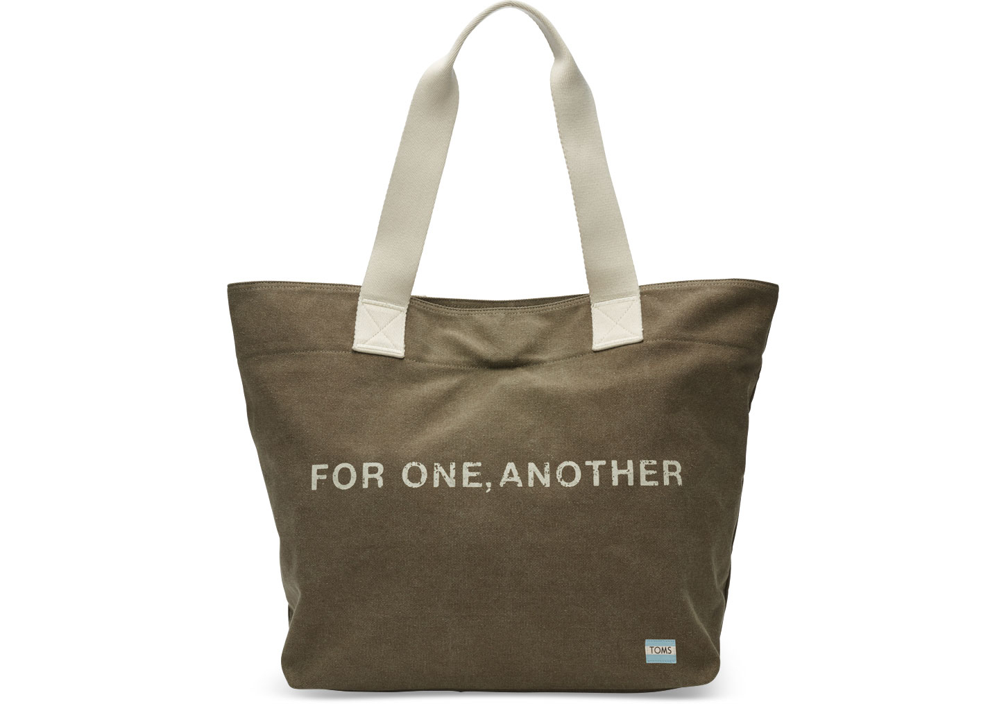 toms olive for one another transport tote bag in green lyst