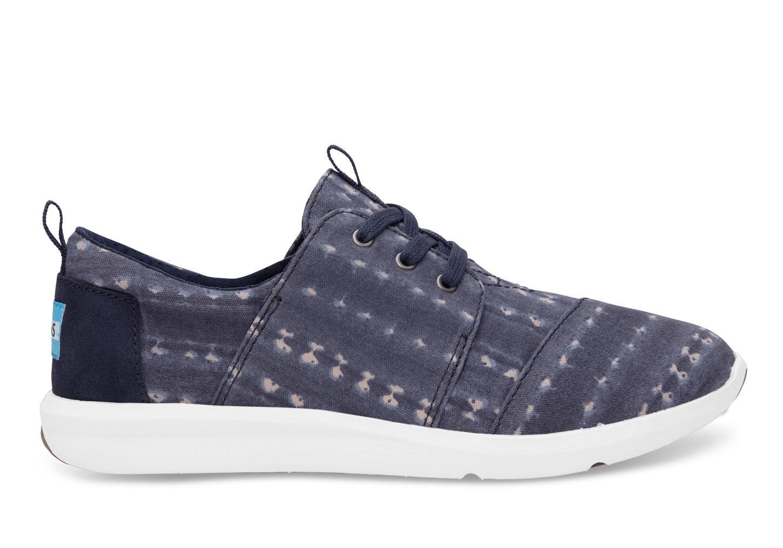 Toms Navy Blue Stripe Shoe