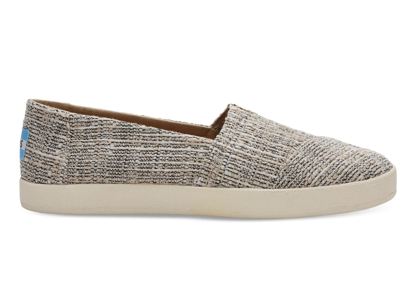 Toms Oxford Tan Multicolor Tweed Women S Avalon Slip Ons