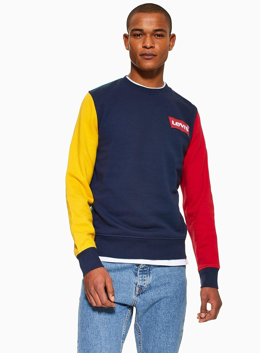 ddf13e27f733 Levi's Colour Block Sweatshirt in Blue for Men - Lyst