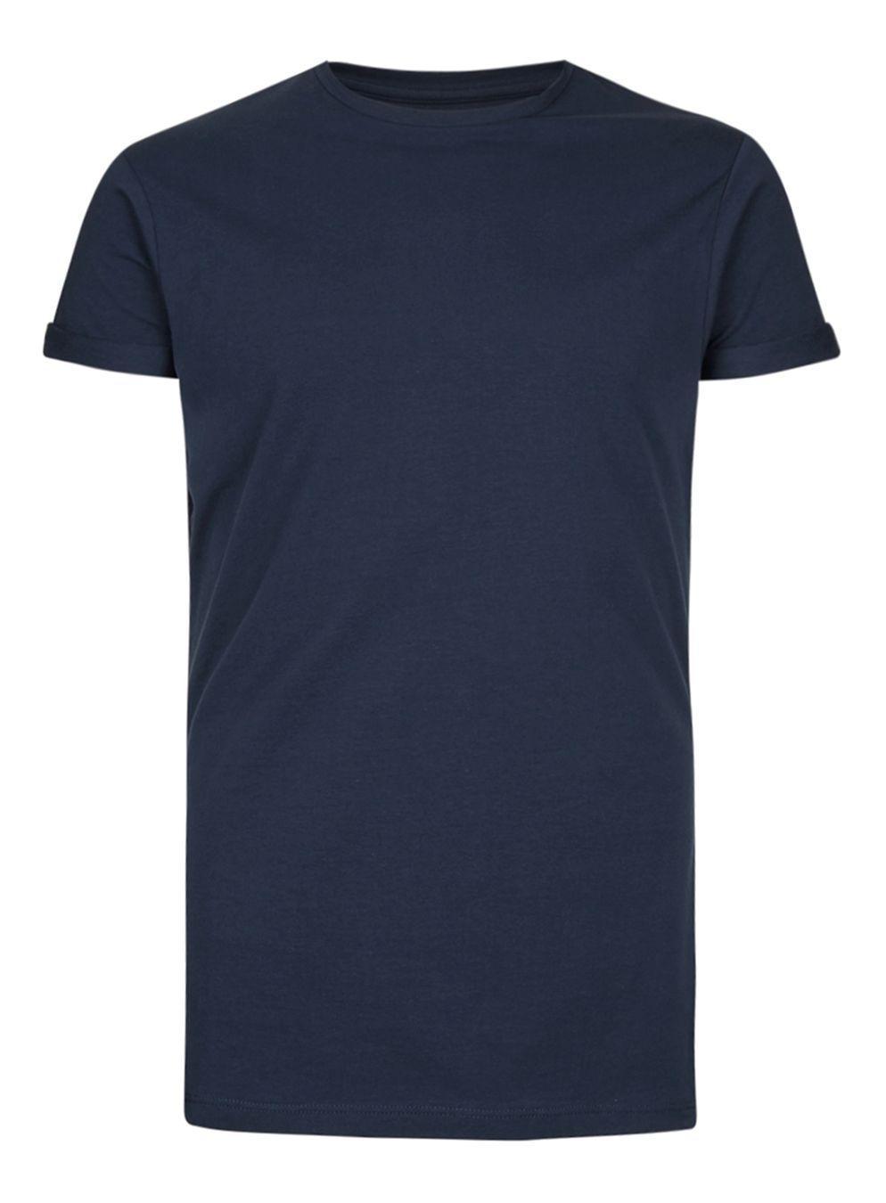 1d3aa61e394 Lyst - Topman Navy Ultra Muscle Roller T-shirt in Blue for Men