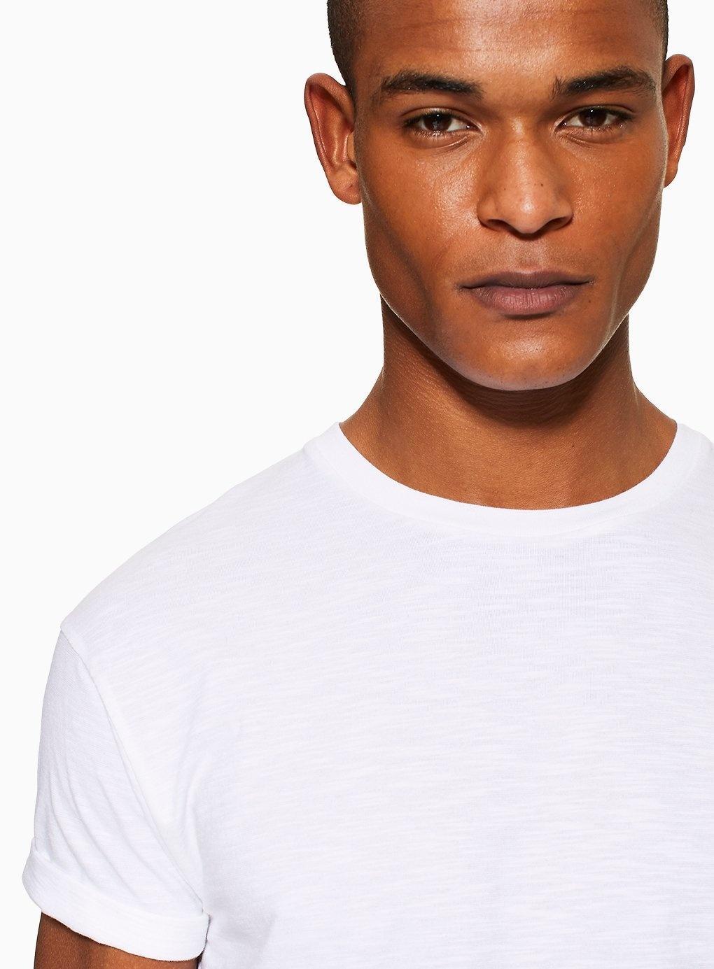 3413cb34 Topman - White Slub Roller T-shirt for Men - Lyst. View fullscreen