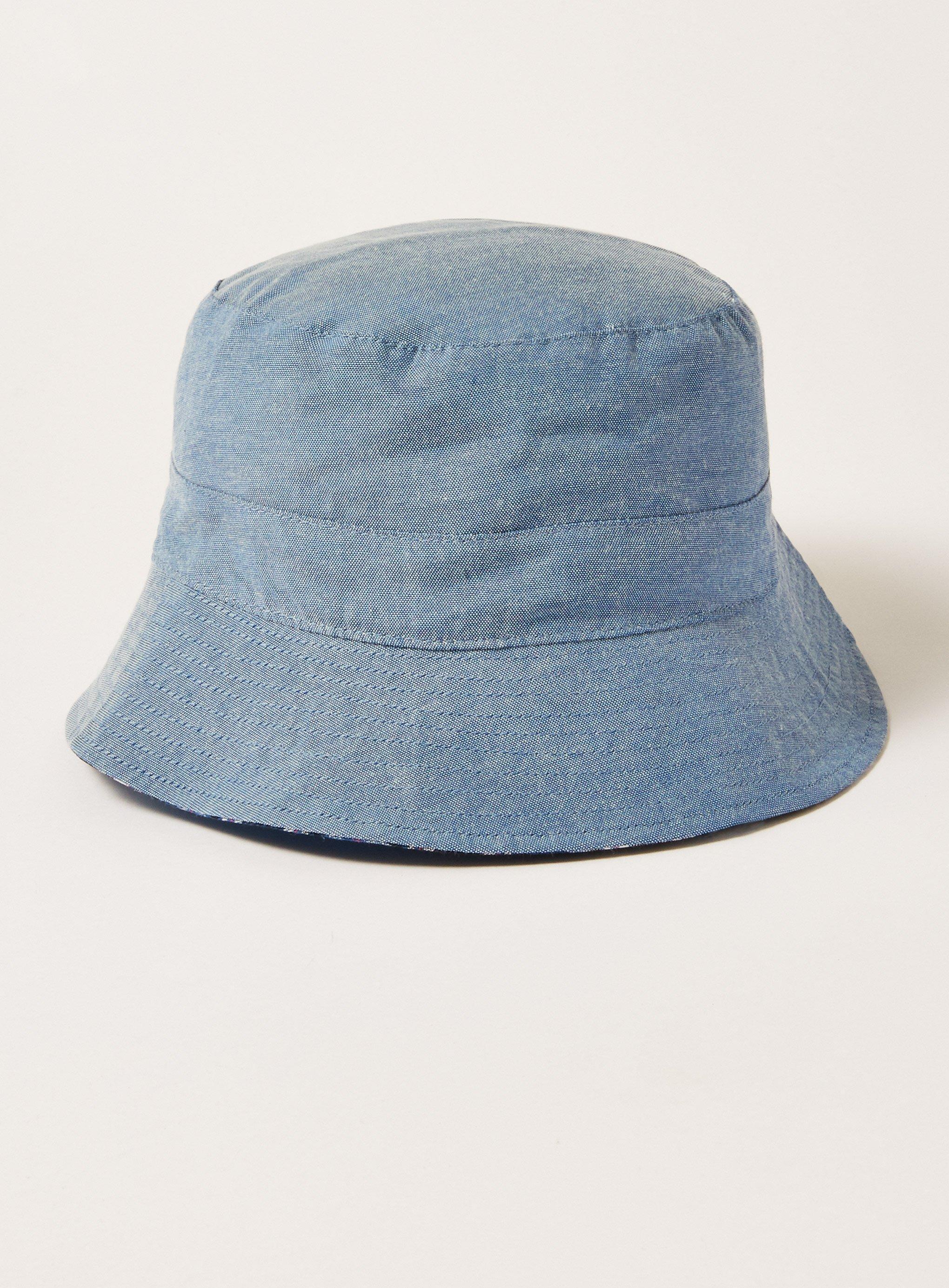 Lyst - Topman Denim And Check Revere Bucket Hat in Blue for Men b0b40634b98
