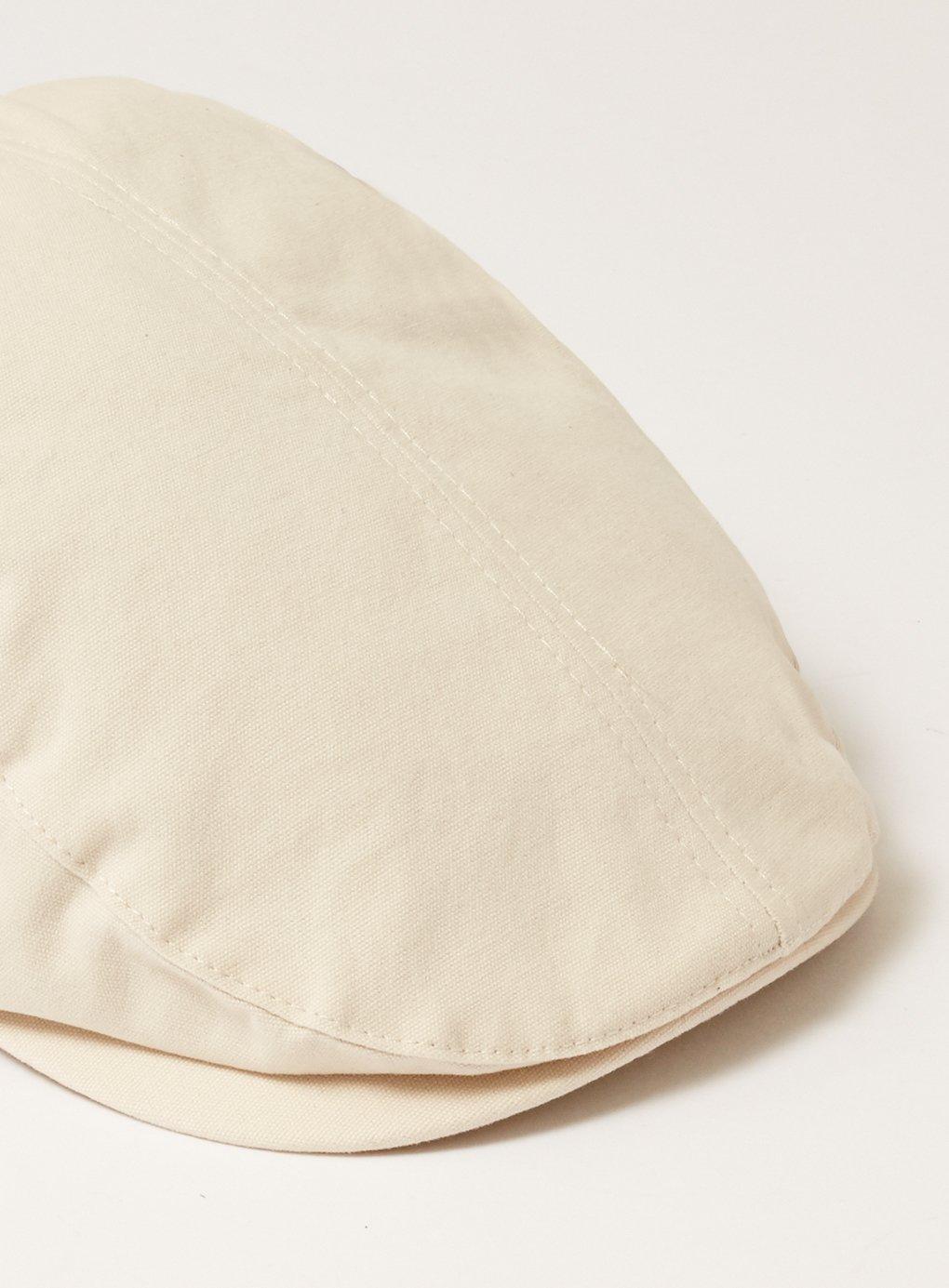 584f96ada22 Lyst - TOPMAN Tone Canvas Flat Cap in Natural for Men