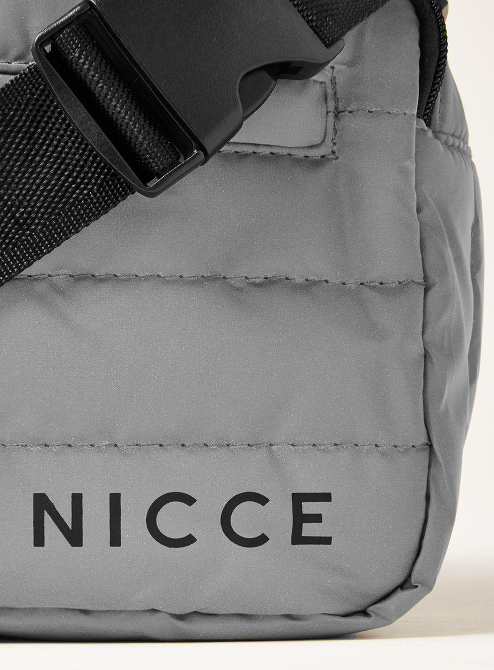 Nicce London Synthetic Reflective Quilted Cross Body Bag for Men