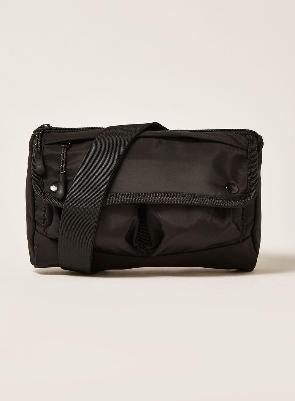TOPMAN Black Sabre Cross Body Bag in Black for Men - Lyst 5fe3ec09833f7