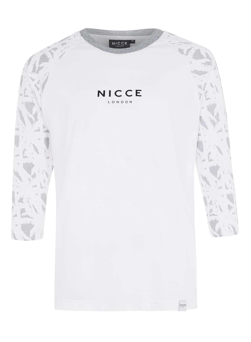 Topman nicce white raglan three quarter length sleeve t for Three quarter length shirt