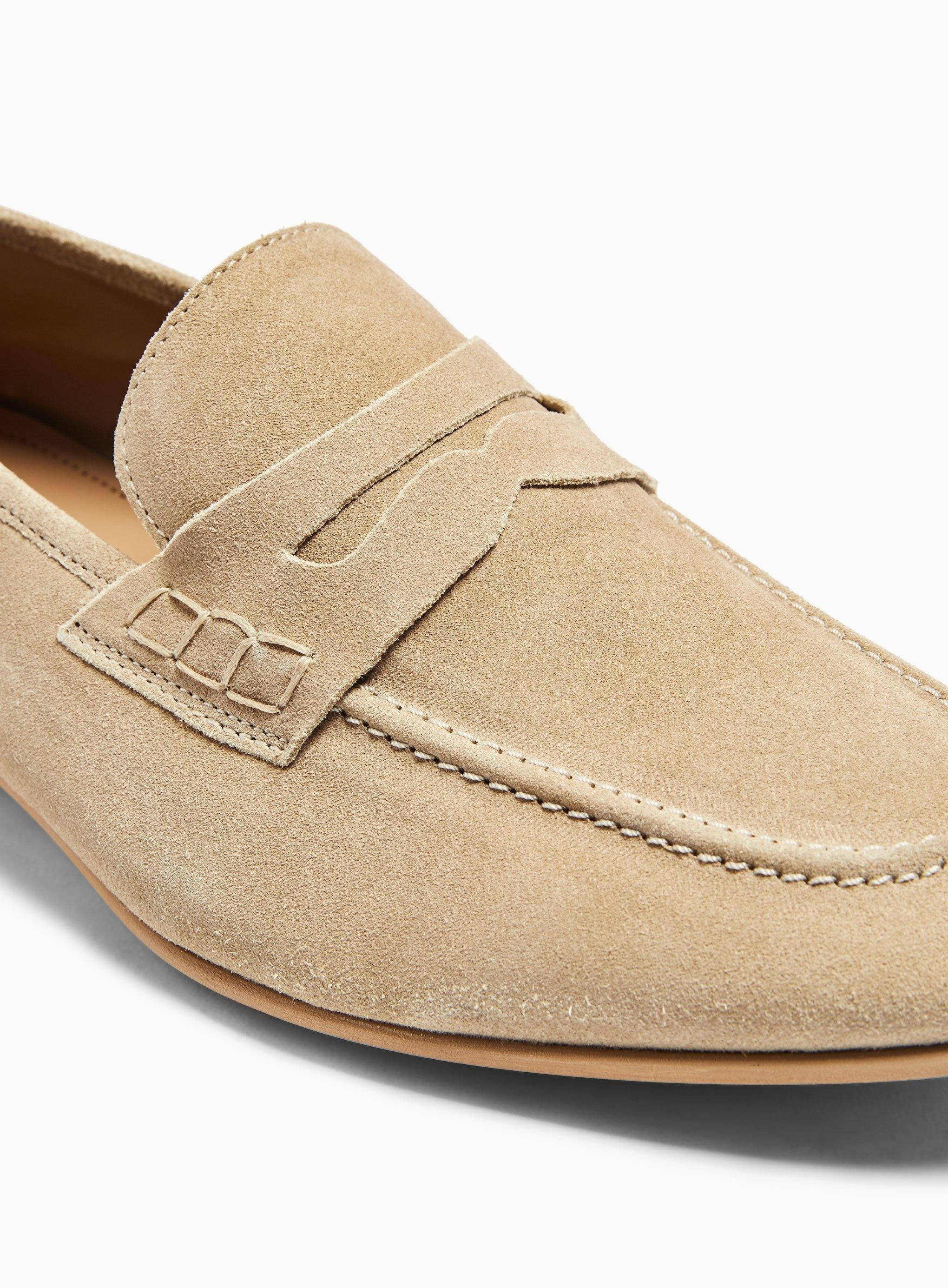 TOPMAN Suede Colburn Loafer in Stone