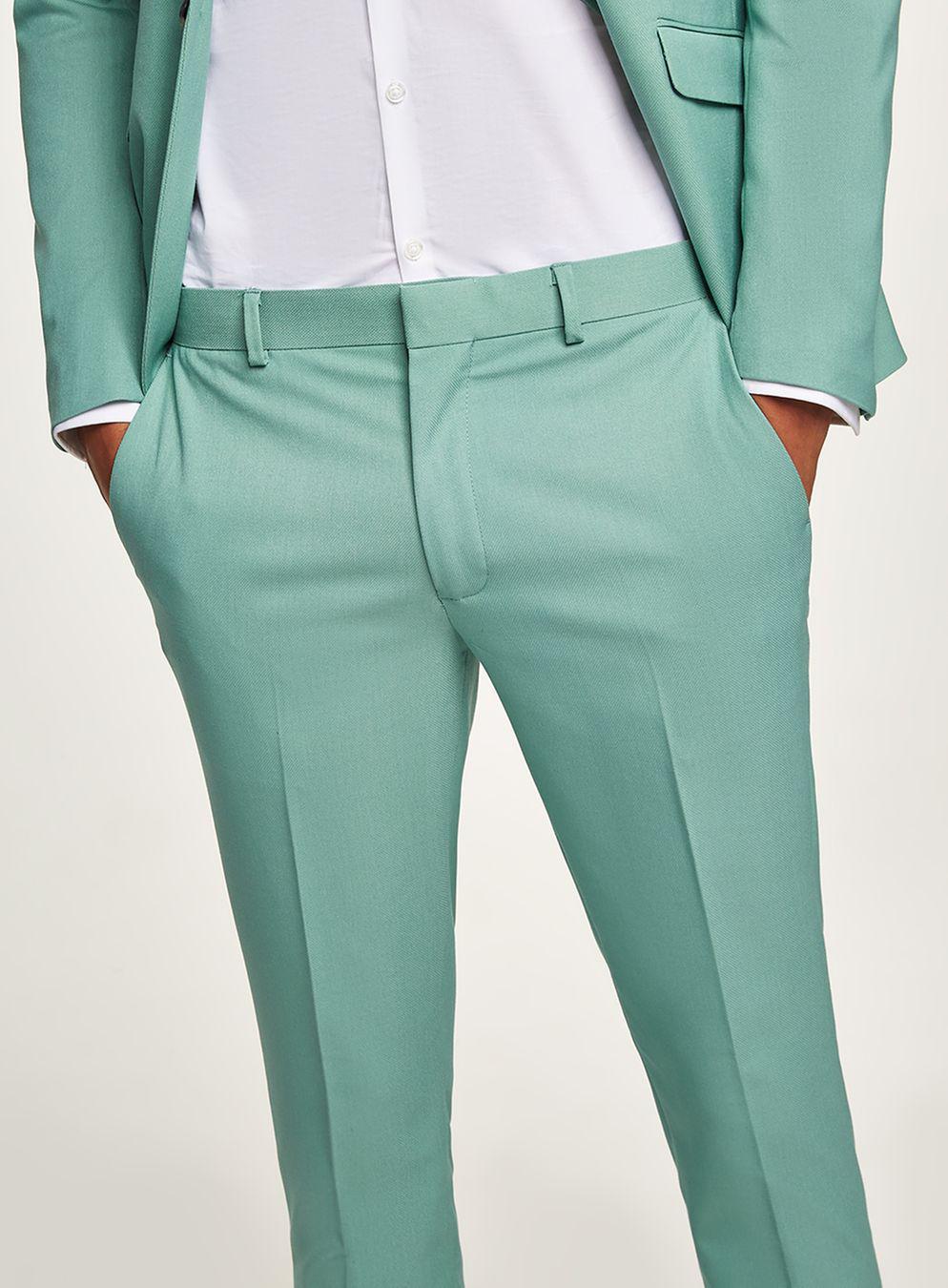 TOPMAN Synthetic Mint Green Skinny Suit Trouser for Men