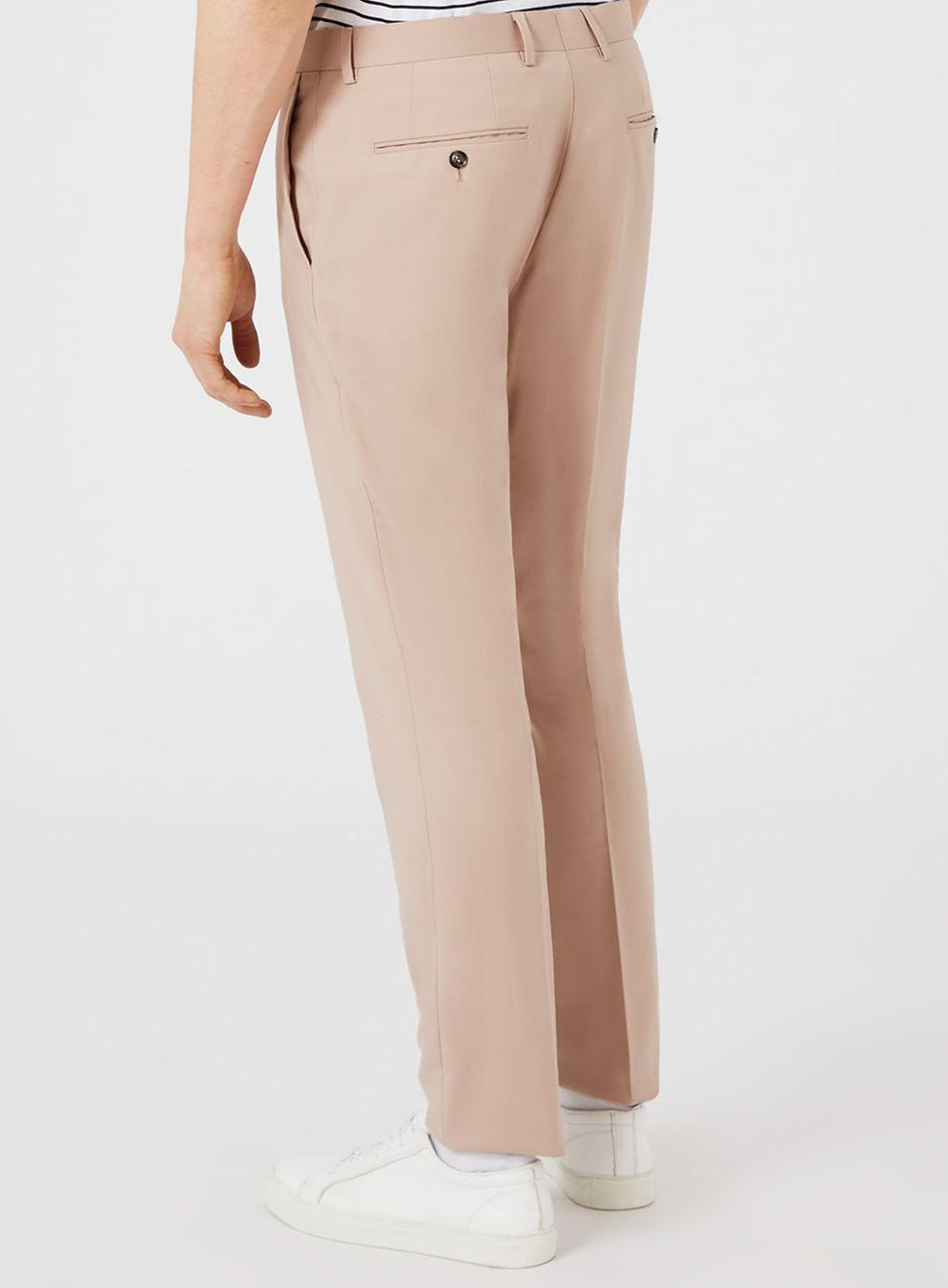 TOPMAN Synthetic Dusty Rose Skinny Trousers in Pink for Men
