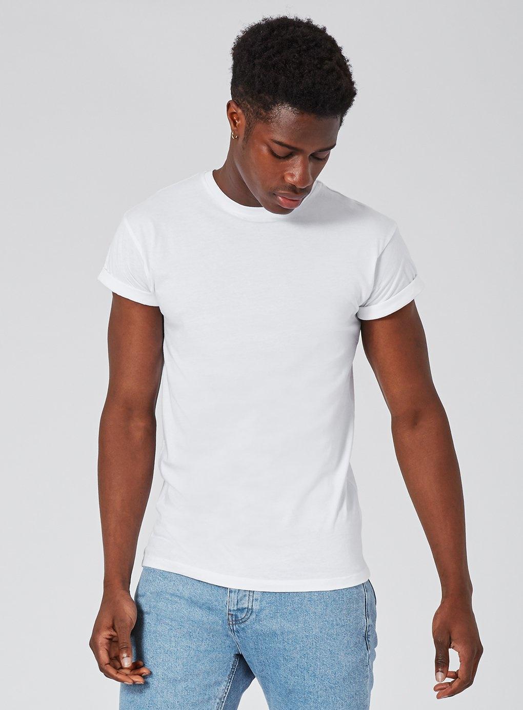 30d4a178 Topman - White Skinny Fit Roller T-shirt for Men - Lyst. View fullscreen