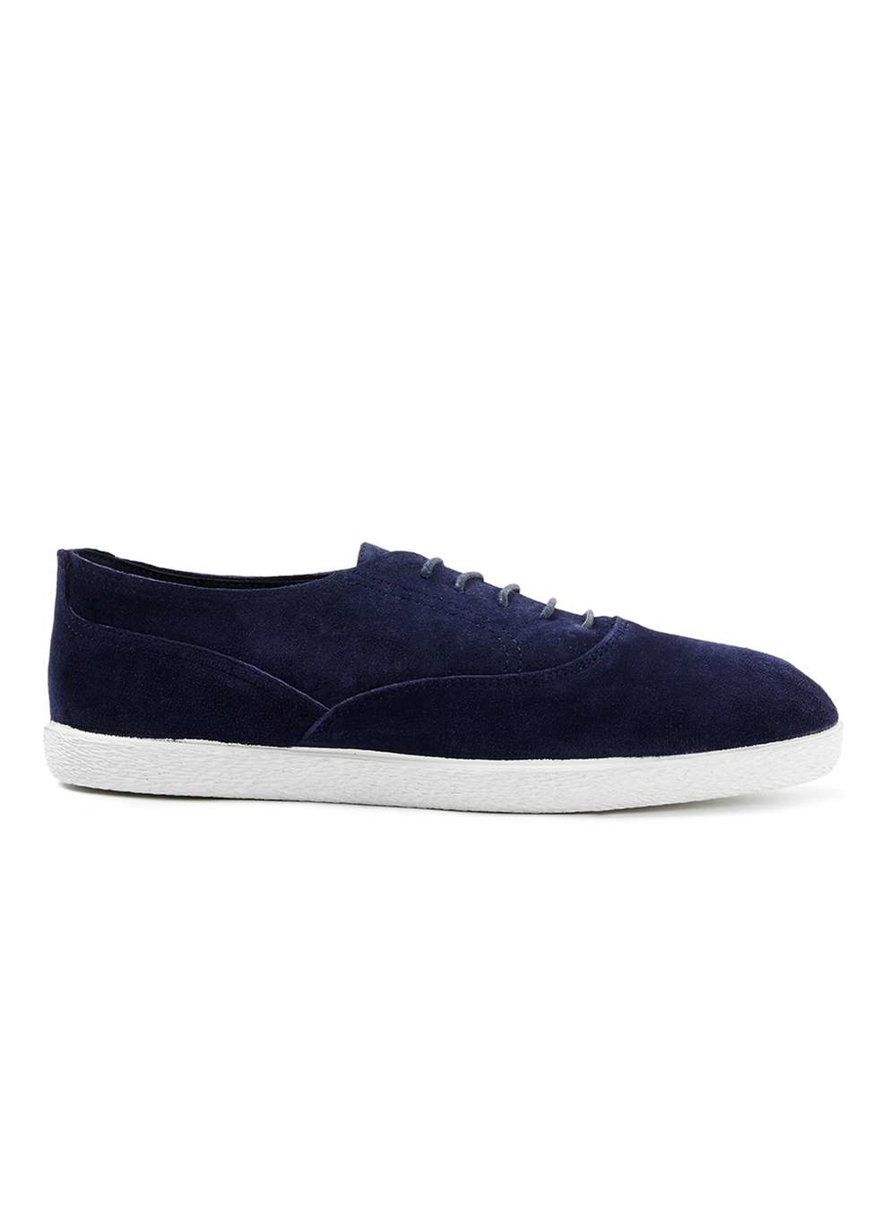 topman navy suede casual oxford shoes in blue for lyst
