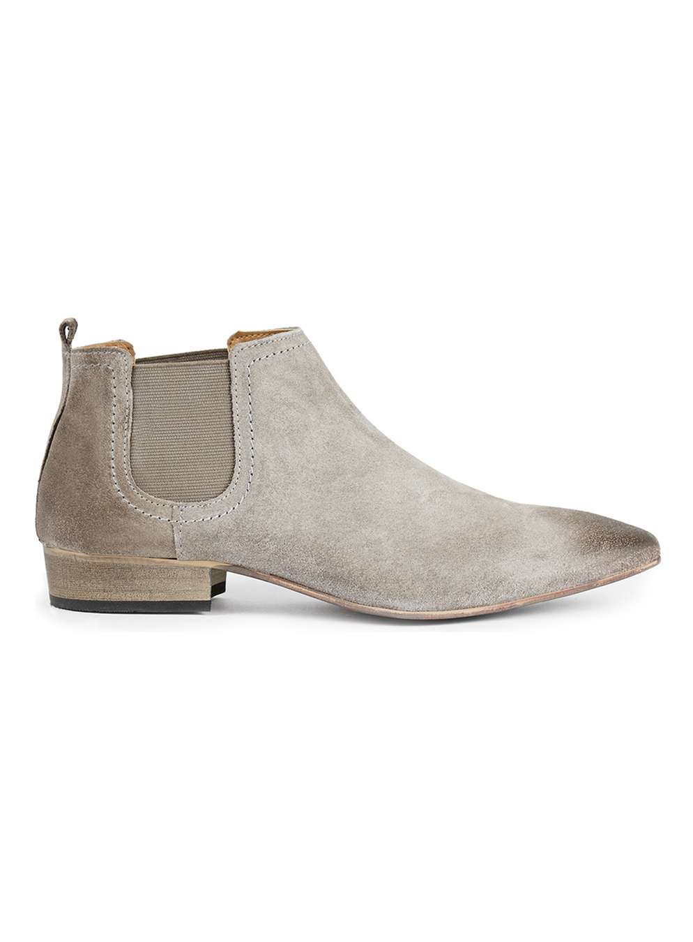 topman grey suede chelsea boots in gray grey lyst. Black Bedroom Furniture Sets. Home Design Ideas