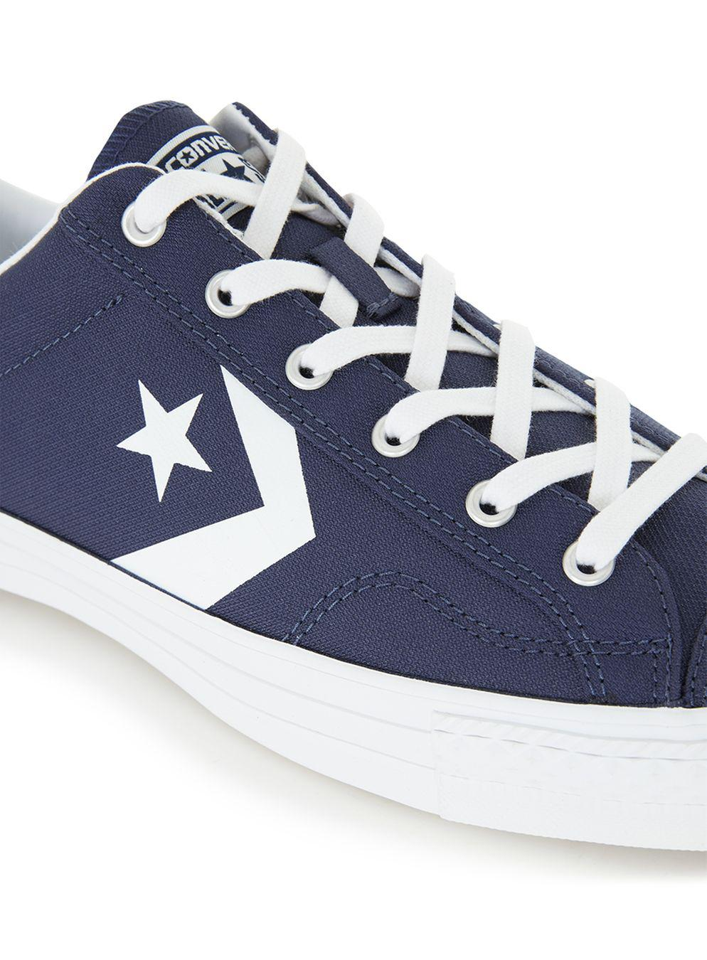 Converse Star Player Navy Canvas Trainers in Blue for Men