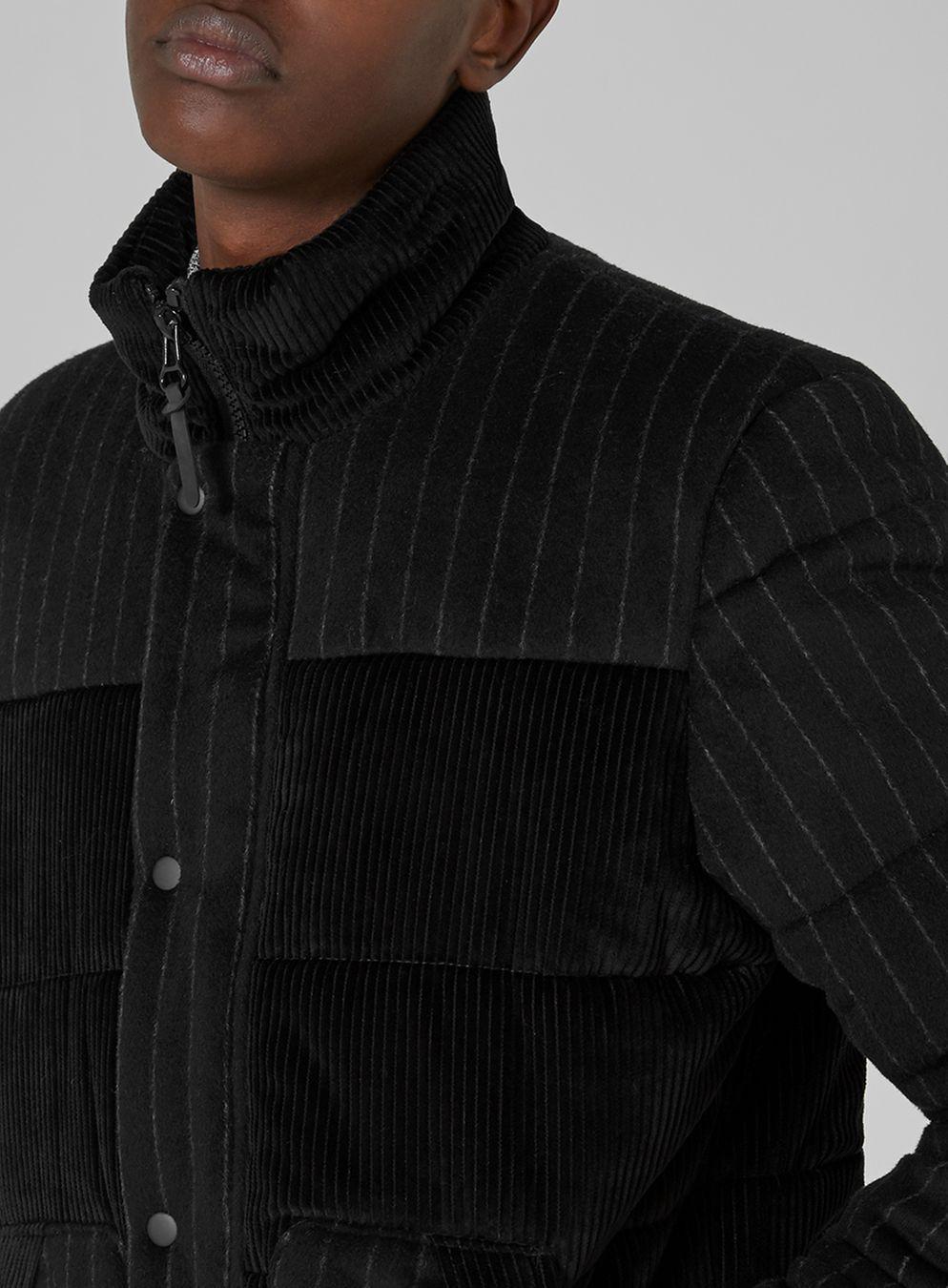 TOPMAN Black Corduroy Puffer Jacket for Men - Lyst