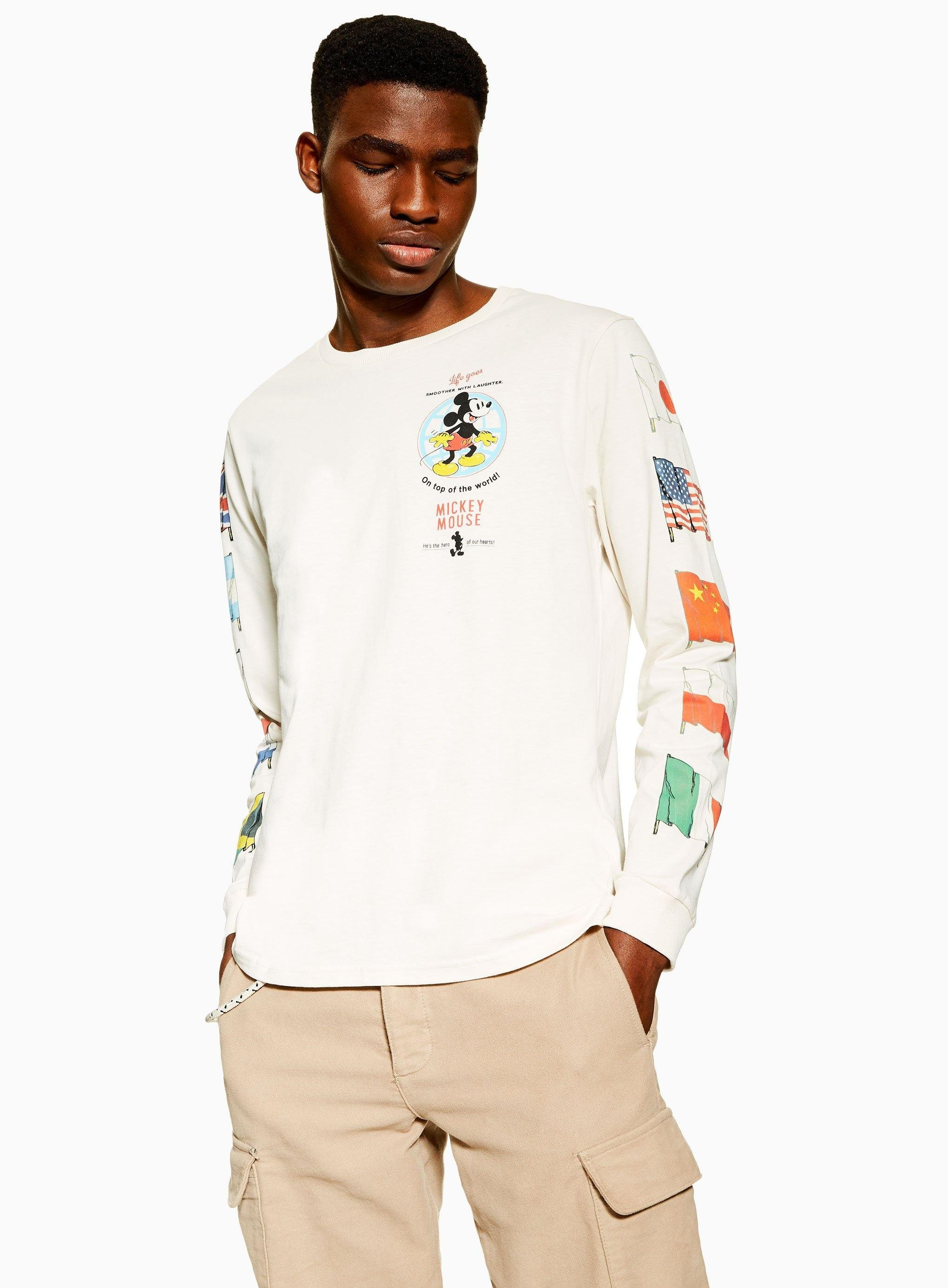 6a4c99a2 TOPMAN Off White Mickey Mouse Flag T-shirt in White for Men - Lyst