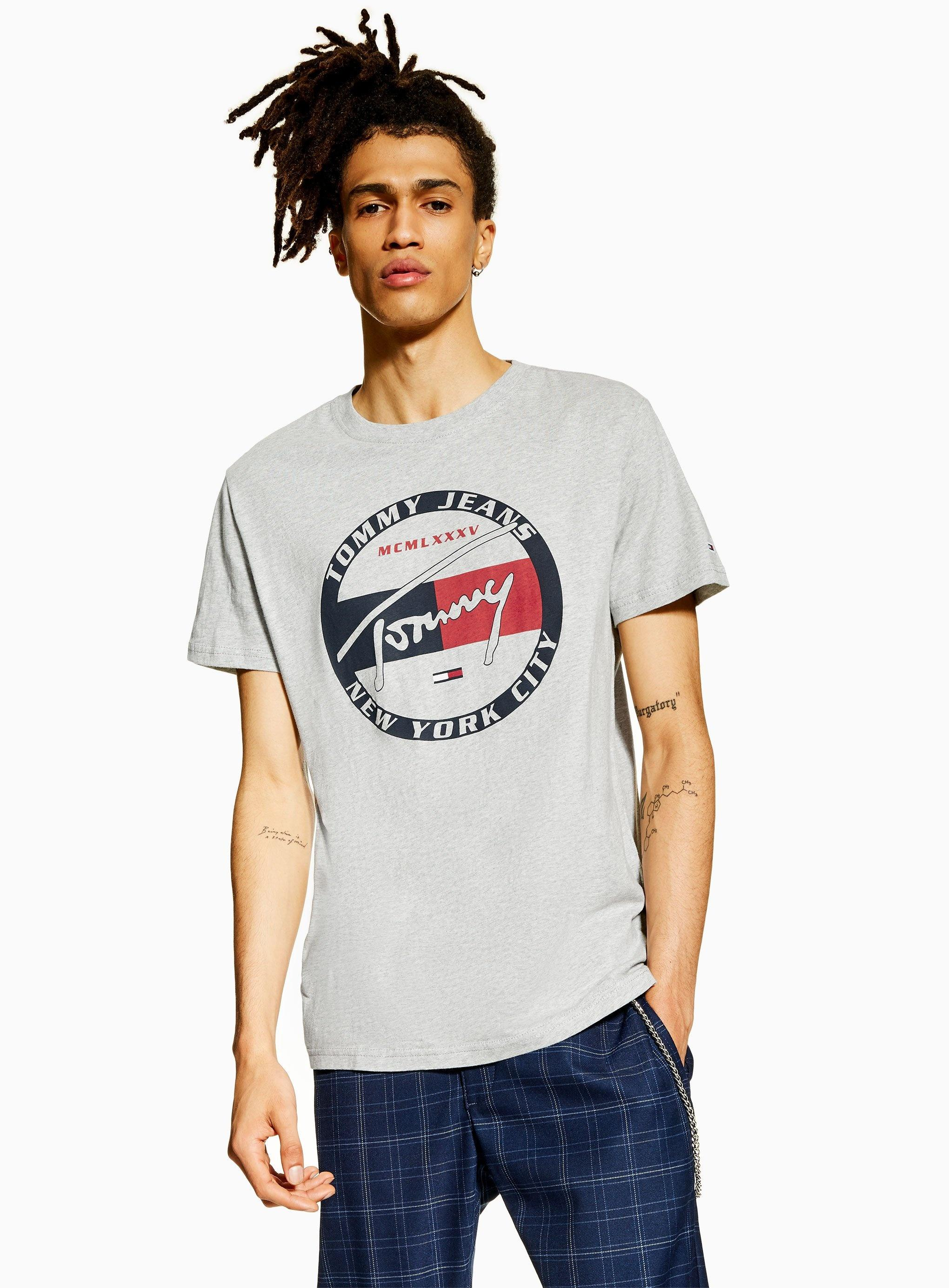 c46beac3 Tommy Hilfiger Tjm Circle Graphic Tee T in Gray for Men - Save 20 ...