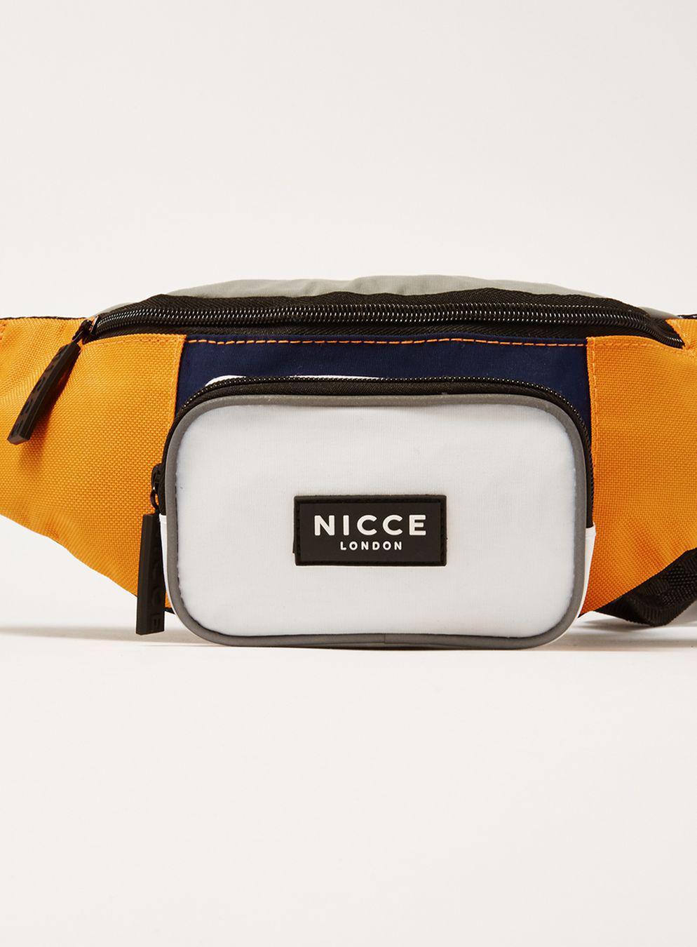 Nicce London Synthetic Orange Cross Body Bag in Black for Men