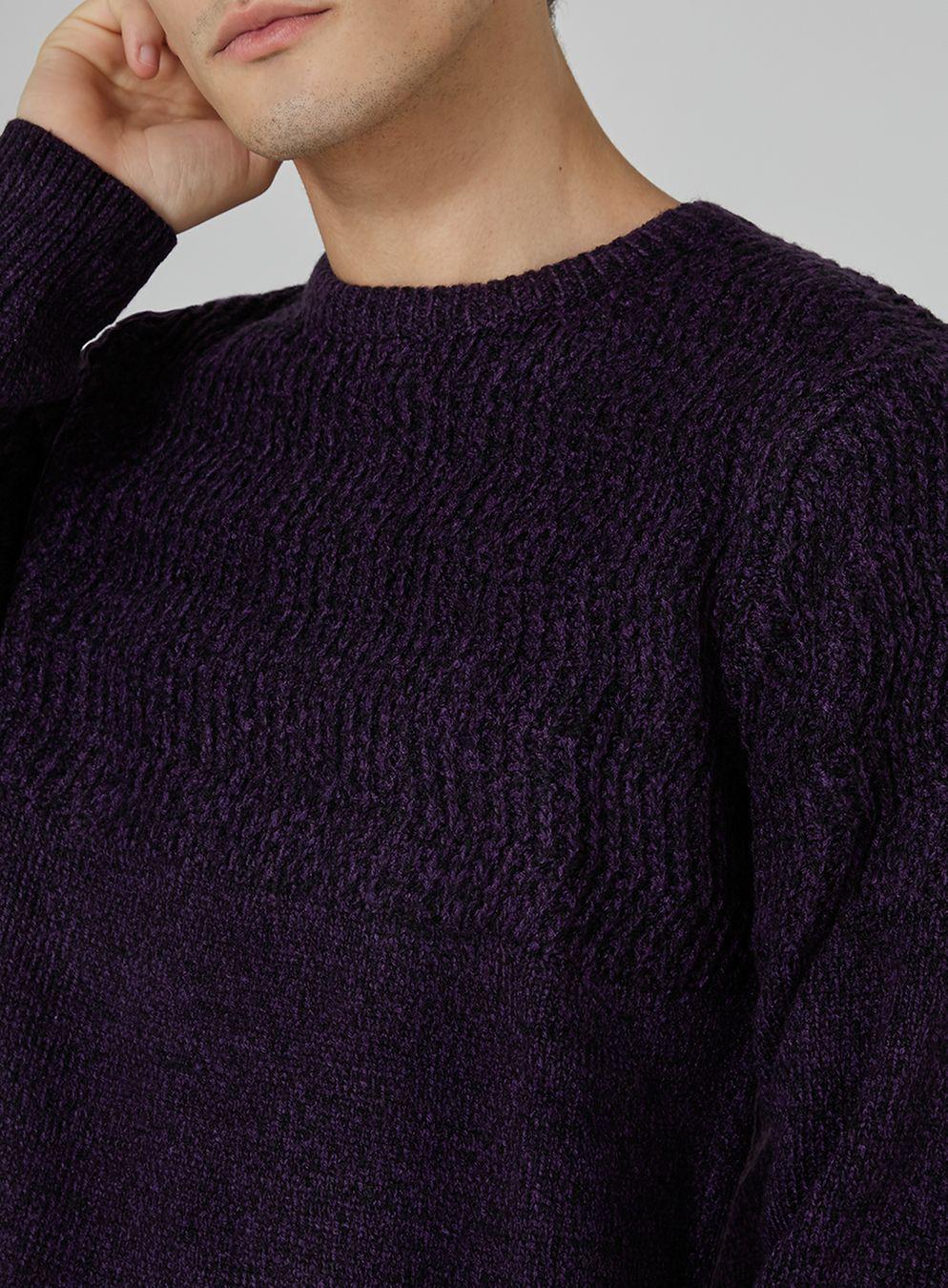 Topman Purple And Black Zig Zag Sweater in Purple for Men | Lyst