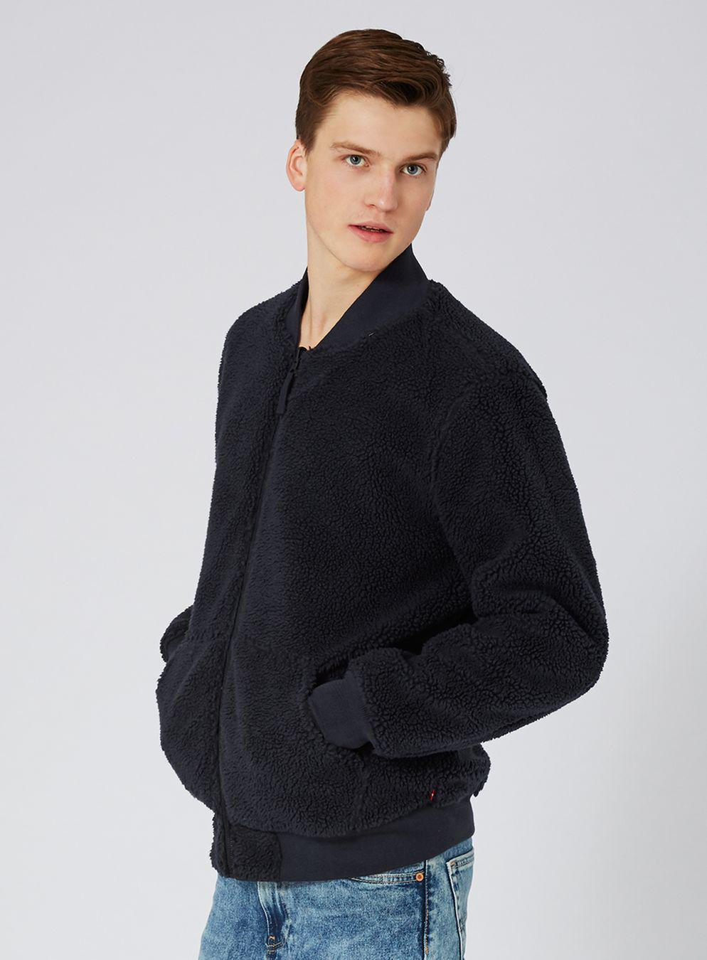 TOPMAN Synthetic Levi's Black Reversible Ma1 Bomber Jacket in Blue for Men