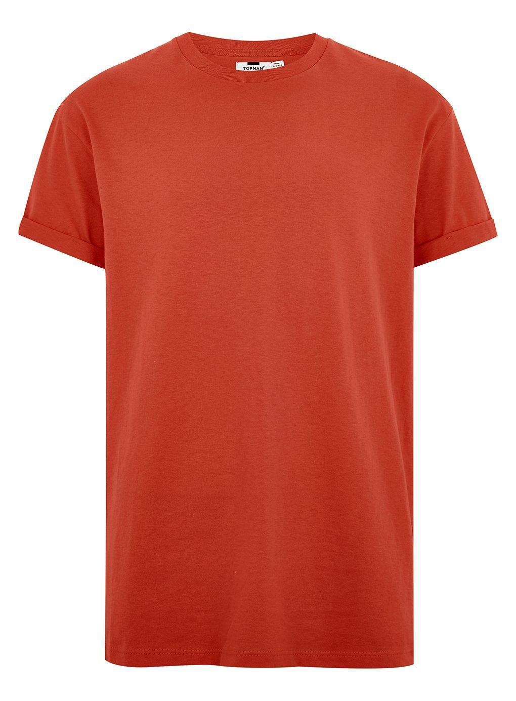 8ddd5bb2 Topman - Orange Rust Oversized Roller T-shirt for Men - Lyst. View  fullscreen
