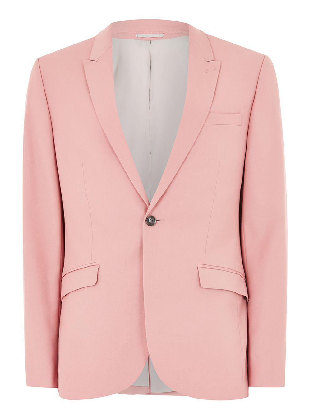 Lyst - Topman Pink Skinny Suit Jacket in Pink for Men
