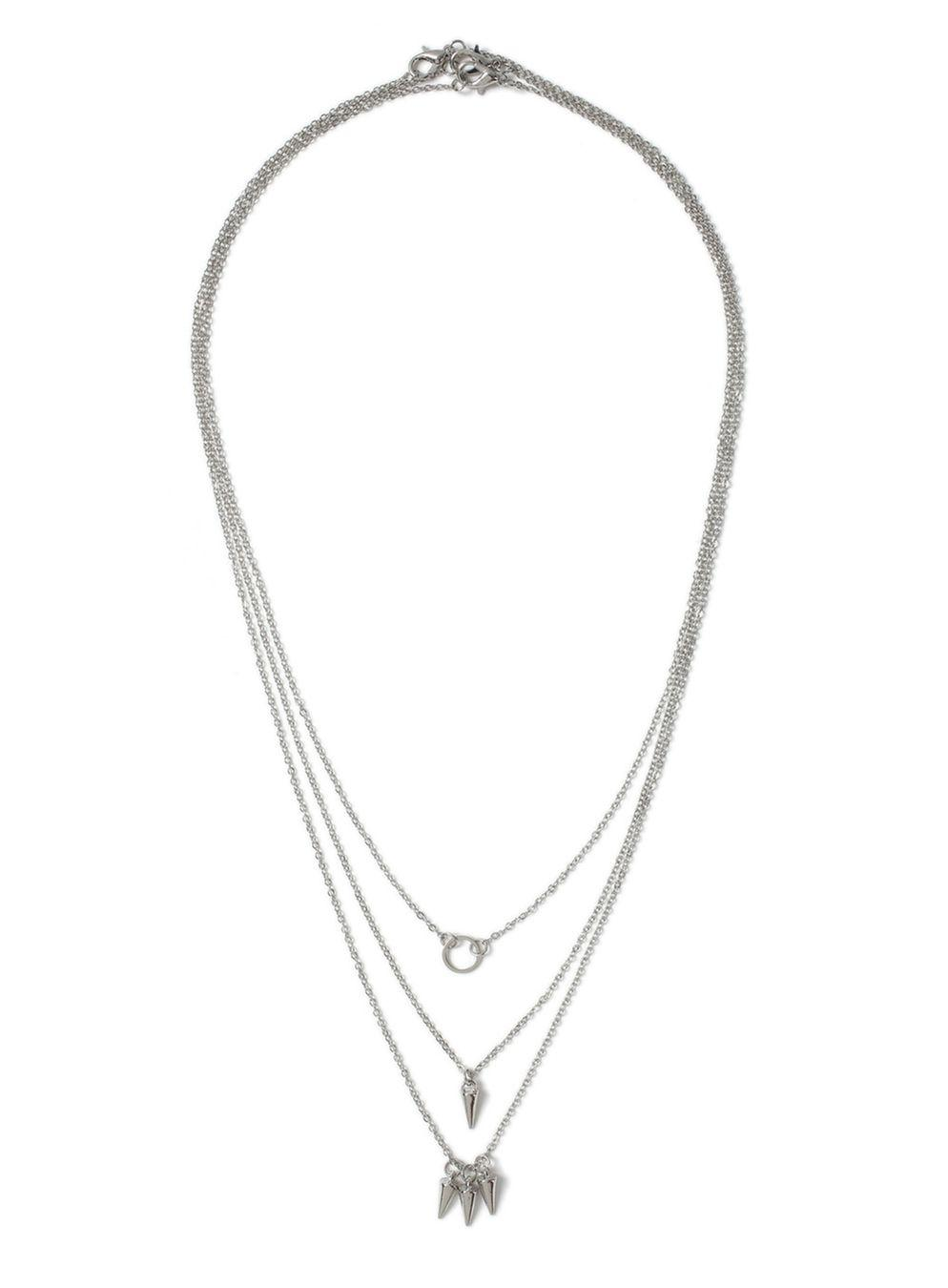 TOPMAN Ilver Tusk Necklace in Metallic for Men
