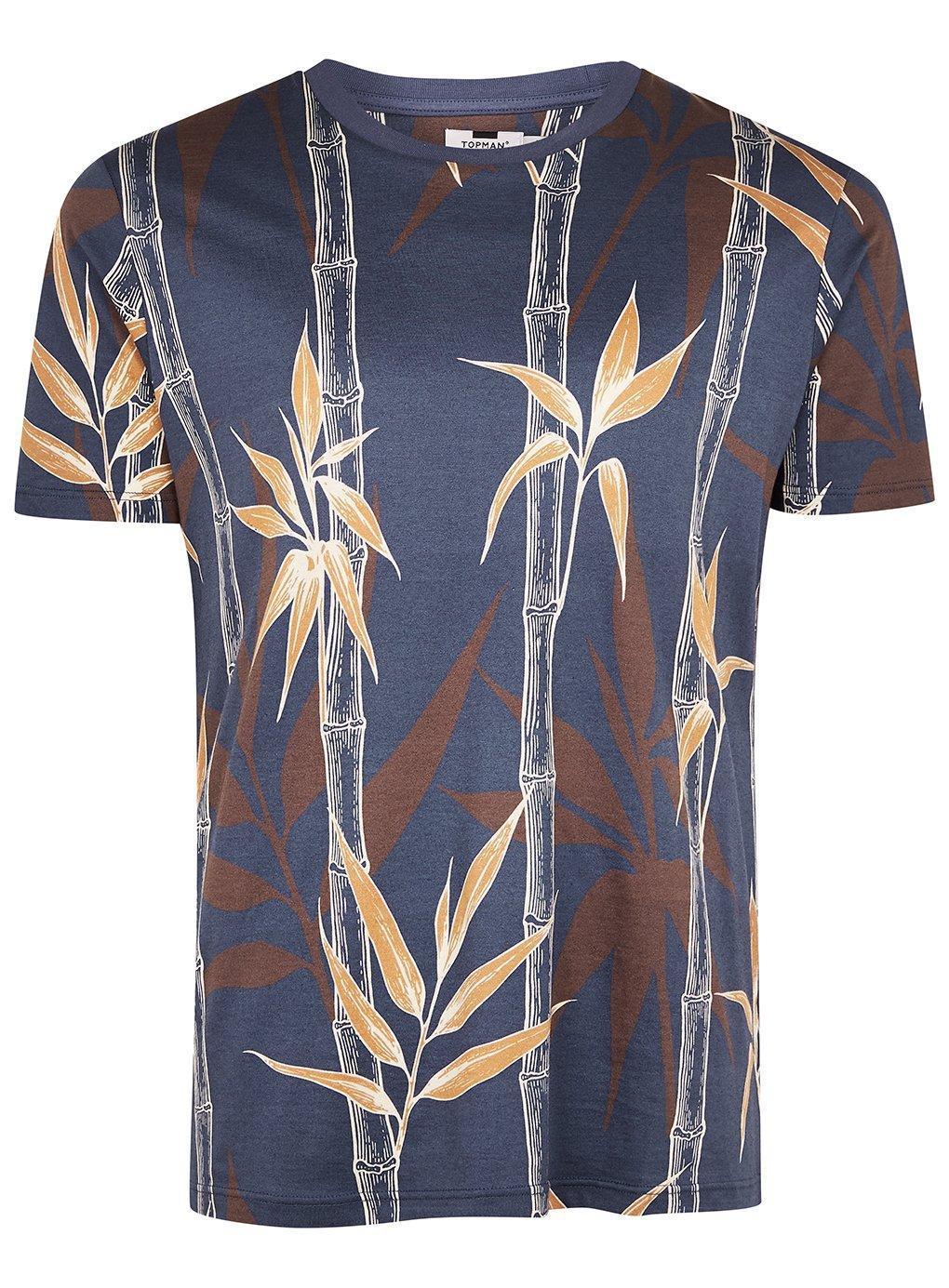 839dad43 Topman - Blue Floral Print T-shirt for Men - Lyst. View fullscreen