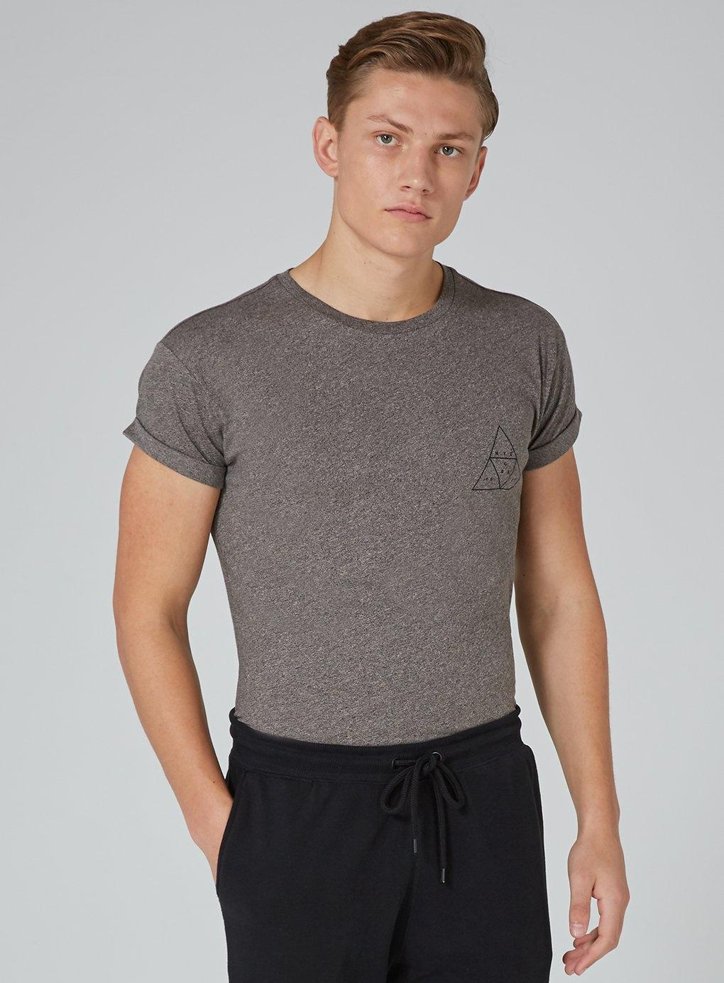 d898136c Topman Printed Skinny Fit T-shirt in Brown for Men - Lyst