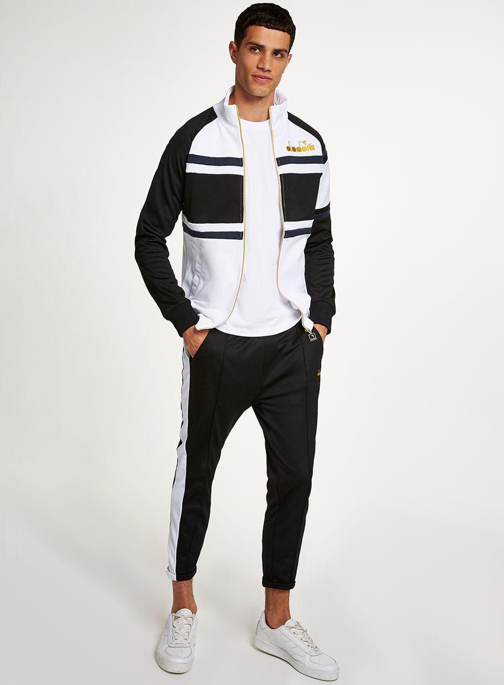f9fb48cf TOPMAN Diadora Black And White 80's Track Pant for Men - Lyst