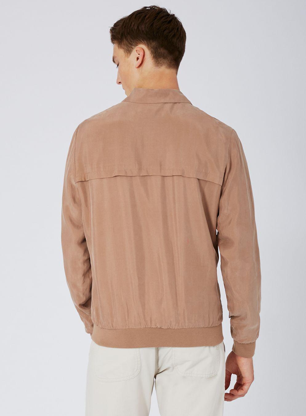 TOPMAN Synthetic Pink Smart Bomber Jacket for Men