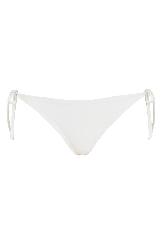 calvin klein string tie side bikini bottoms by in white lyst. Black Bedroom Furniture Sets. Home Design Ideas