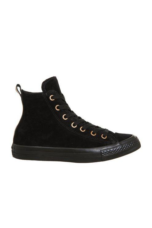 Converse  All Star Hi Leather Trainers in Black