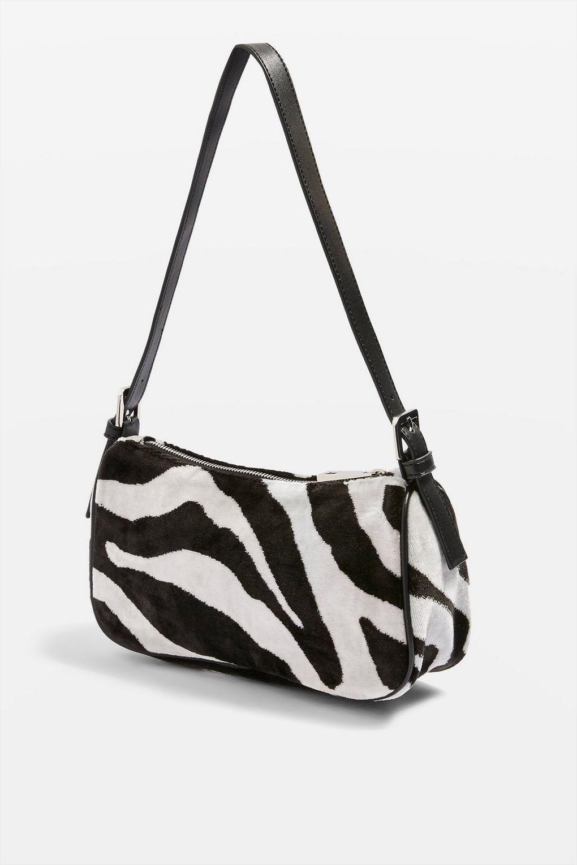 Top Kenya Zebra Print Shoulder Bag