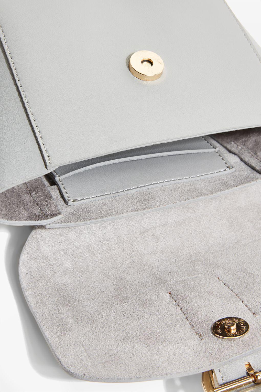 TOPSHOP Grey Raven Cross Body Bag in Grey